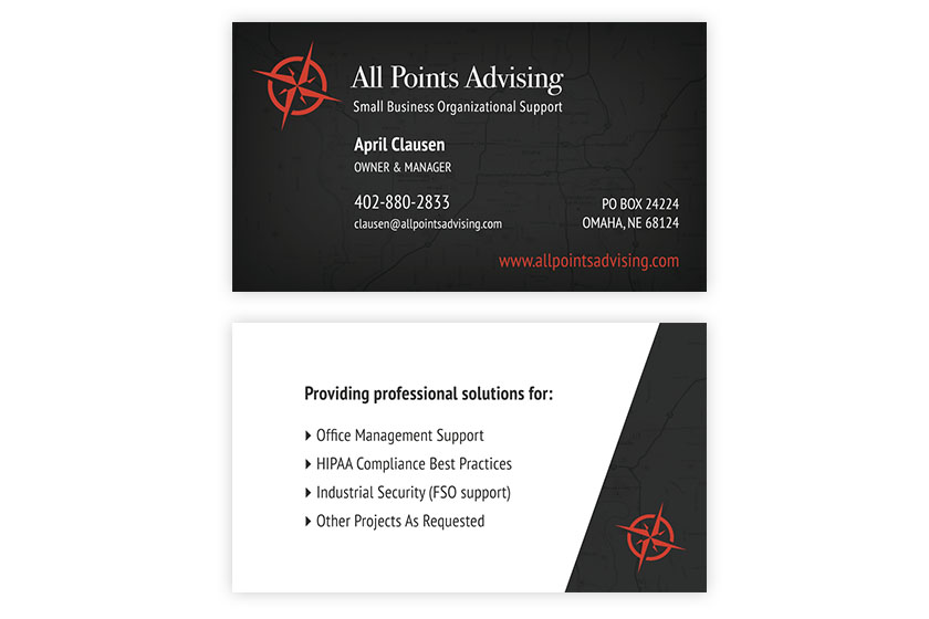 All Points Advising Business Card