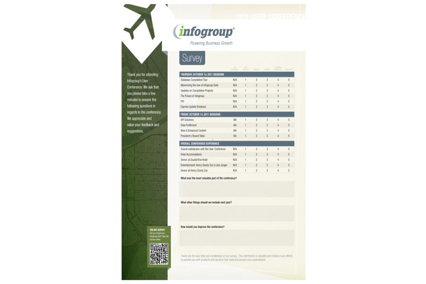 Infogroup - User Conference Brochure